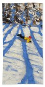Tree Shadows Morzine Bath Towel