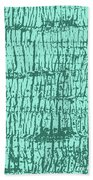 Tree Texture Turquoise Bath Towel