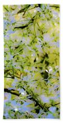 Trees And Leaves Hand Towel