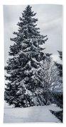 Trees And Snow Bath Towel