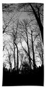 Trees At Dusk Bath Towel