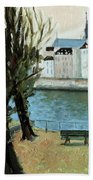 Trees By The River Bath Towel