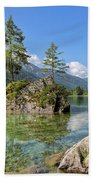 Trees On A Rock, Hintersee Hand Towel