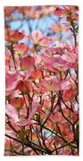 Trees Pink Spring Dogwood Flowers Baslee Troutman Bath Towel