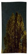Trees Under The Milky Way On A Starry Night Hand Towel