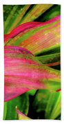 Tri-color Leaves Bath Towel