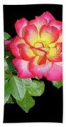 Tri-color Pink Rose2 Cutout Bath Towel