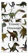 Triassic Dinosaurs Bath Towel
