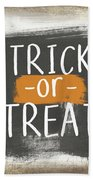 Trick Or Treat Sign- Art By Linda Woods Hand Towel