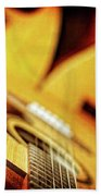 Trio Of Acoustic Guitars Bath Towel