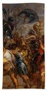Triumphal Entry Of Henry Iv In Paris Bath Towel