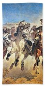 Troopers Moving Bath Towel by Frederic Remington
