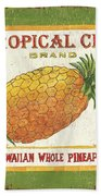 Tropical City Pineapple Hand Towel