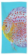Tropical Discus Fish With Red Spots Bath Towel