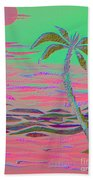 Hot Pink Coconut Palm Bath Towel