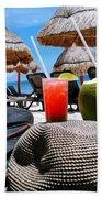 Tropical Paradise Sun, Sand, Beach And Drinks. Hand Towel