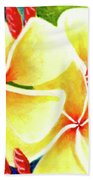 Tropical Plumeria Flowers #226 Bath Towel