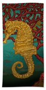 Tropical Seahorses Bath Towel
