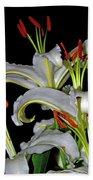 True Lilies Hand Towel by Andy Za