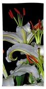 True Lilies Bath Towel by Andy Za