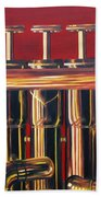 Trumpet In Red Hand Towel