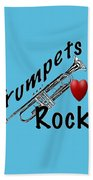 Trumpets Rock Bath Towel