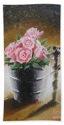 Tub Of Roses Bath Towel