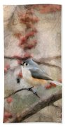 Tufted Titmouse 2 Bath Towel