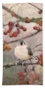 Tufted Titmouse Bath Towel