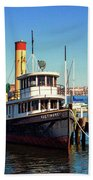 Tugboat Baltimore At The Museum Of Industry Bath Towel