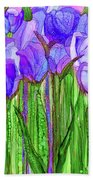 Tulip Bloomies 1 - Purple Bath Towel