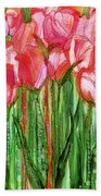 Tulip Bloomies 2 - Red Bath Towel