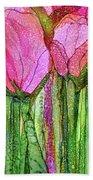 Tulip Bloomies 3 - Pink Bath Towel