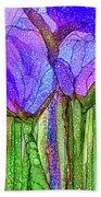Tulip Bloomies 3 - Purple Bath Towel