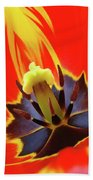 Tulip Flower Floral Art Print Red Yellow Tulips Baslee Troutman Bath Towel
