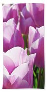 Tulip Garden Flowers Purple Lavender Pastel Art Baslee Troutman Bath Towel