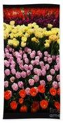 Tulip Greeting Card Bath Towel