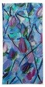 Tulip Harmony- Abstract Art Bath Towel