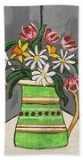 Tulips And Daisies Hand Towel