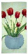 Tulips I  Bath Towel