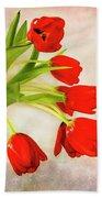 Tulips In A Vase Bath Towel