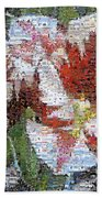 Tulips In Springtime Photomosaic Bath Towel