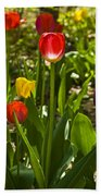 Tulips In The Garden Bath Towel