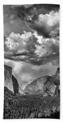 Tunnel View In Black And White Bath Towel