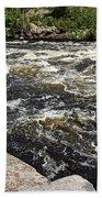 Turbulent Dalles Rapids Bath Towel