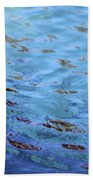 Turquoise And Blue Swirls Large Canvas Bath Towel
