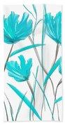 Turquoise Bloom Bath Towel