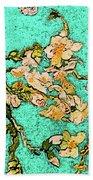 Turquoise Blossom Bath Towel