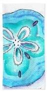 Turquoise Blue Sand Dollar Shells Bath Towel