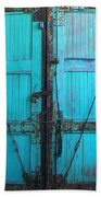 Turquoise Doors Bath Towel